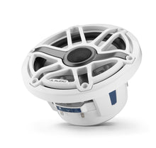 Load image into Gallery viewer, JL AUDIO M6 7.7-inch Marine Coaxial Speakers with Transflective  LED Lighting (100 W, 4 Ohms) - Gloss White Trim Ring, Gloss White Sport Grille