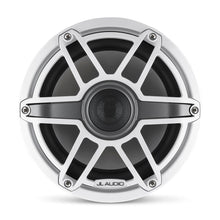 Load image into Gallery viewer, JL AUDIO M6 8.8-inch Marine Coaxial Speakers (125 W, 4 Ohms) - Gloss White Trim Ring, Gloss White Sport Grille