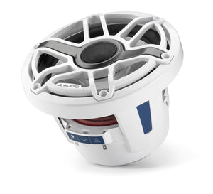 JL AUDIO M6 8.8-inch Marine Coaxial Speakers (125 W, 4 Ohms) - Gloss White Trim Ring, Gloss White Sport Grille