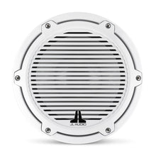 Load image into Gallery viewer, JL AUDIO M6 8-inch Marine Subwoofer Driver for Infinite-Baffle Use (200 W, 4 Ohms) - Gloss White Trim Ring, Gloss White Classic Grille