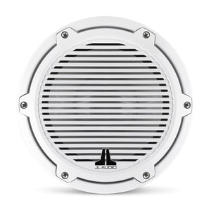 JL AUDIO M6 8-inch Marine Subwoofer Driver for Infinite-Baffle Use (200 W, 4 Ohms) - Gloss White Trim Ring, Gloss White Classic Grille