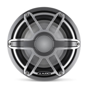 JL AUDIO M6 8-inch Marine Subwoofer Driver for Infinite-Baffle Use (200 W, 4 Ohms) - Gunmetal Trim Ring, Titanium Sport Grille