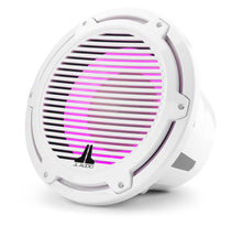 Load image into Gallery viewer, JL AUDIO M7 12-inch Marine Subwoofer with Transflective  LED Lighting for Infinite-Baffle Use (600 W, 4 Ohms) - Gloss White Trim Ring, Gloss White Classic Grille