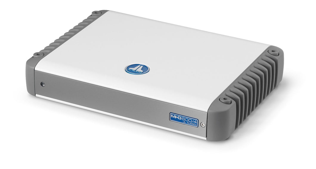 JL AUDIO MHD600/4-24V 4 Ch. Class D Full-Range Marine Amplifier, 600 W, For 24V Systems