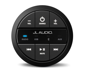 JL AUDIO Round, wired, non-display remote controller for use with MediaMaster Black Edition