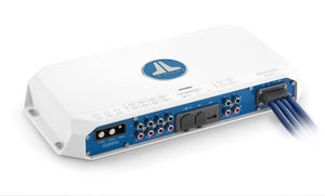 JL AUDIO MV800/8i 8-Channel Class D Full-Range Marine Amplifier with Integrated DSP, 100 W x 8 @ 2 Ohms / 75 W x 8 @ 4 Ohms - 14.4V
