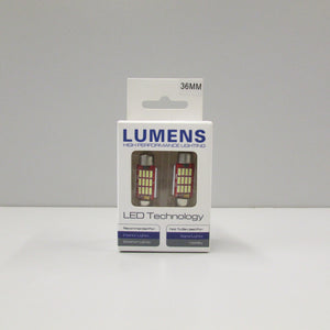 Festoon 36mm  Canbus Non-Polarity (2 pc) - White LED by LUMENS HPL