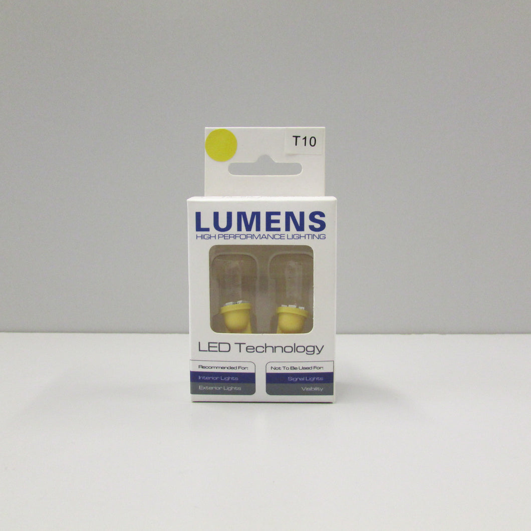 T10 / 194 / 168 (2 pcs) Amber LED by LUMENS HPL