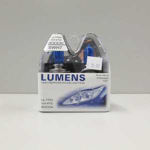 H7 12V 55W - Ultra White Halogen by LUMENS HPL