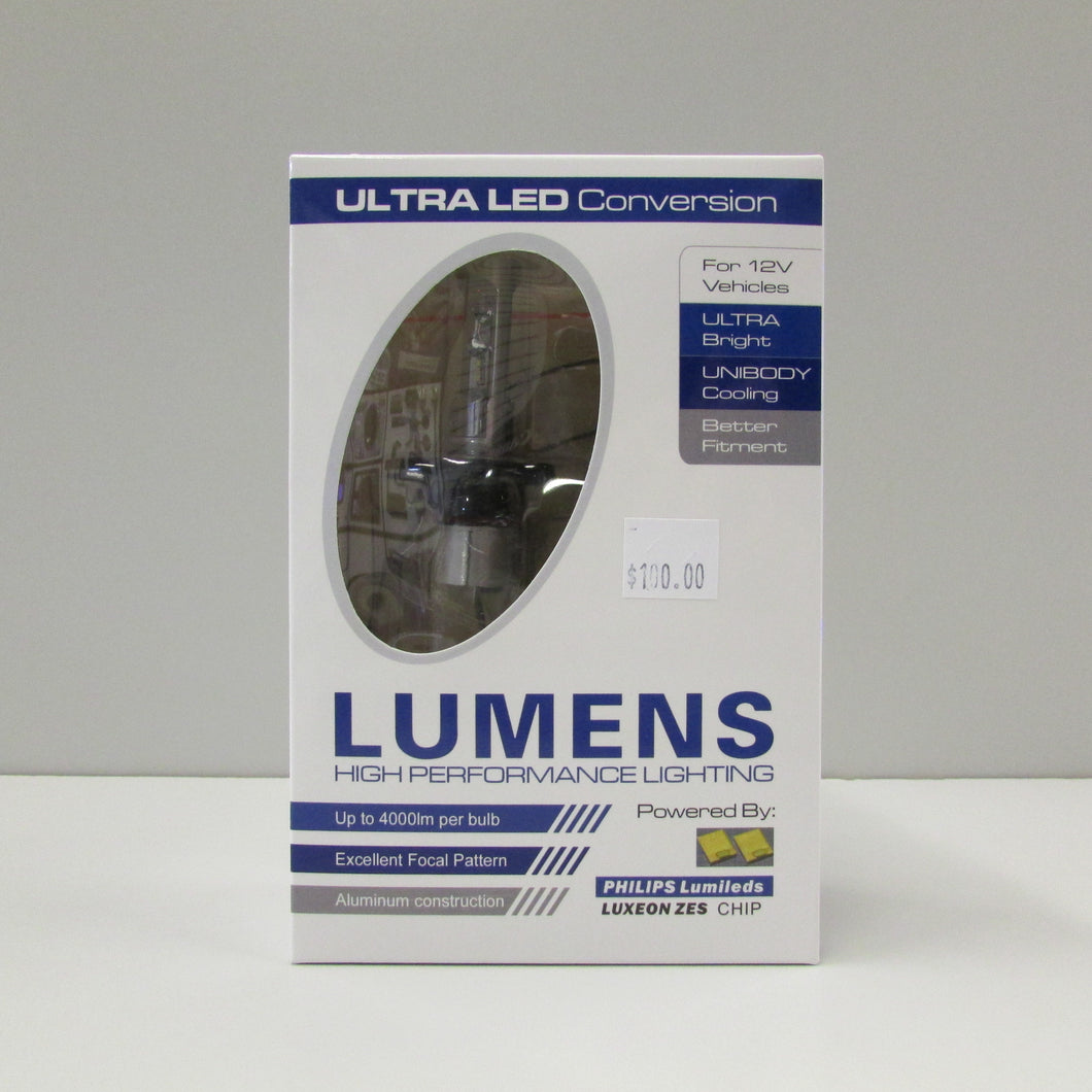H4 ULTRA LED WHITE Bulb & Driver (each) by LUMENS HPL