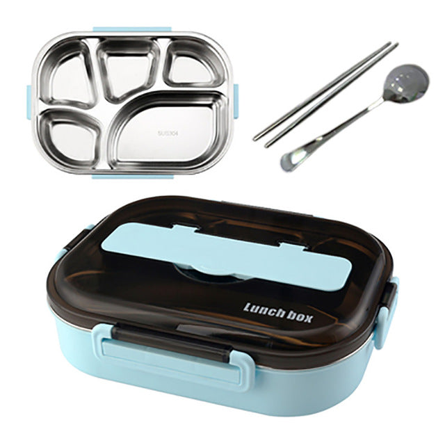 Compartment Stainless Steel Lunch Box - Instant Tray