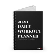 Load image into Gallery viewer, 2020 Daily Workout Planner Spiral Notebook