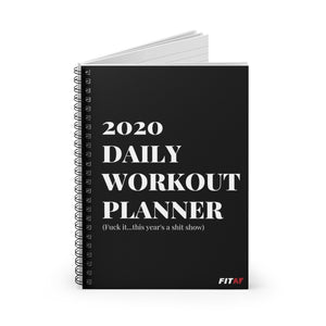 2020 Daily Workout Planner Spiral Notebook