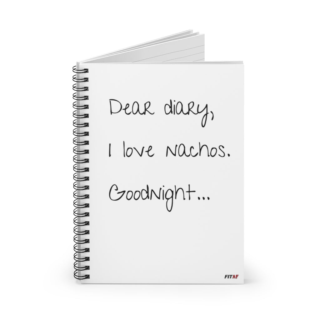 Nacho Confessions Spiral Notebook