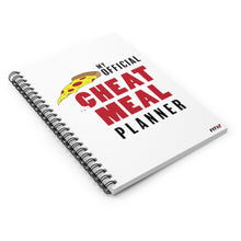 Load image into Gallery viewer, My Official Cheat Meal Planner Spiral Notebook