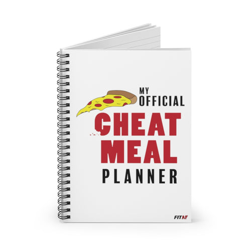 My Official Cheat Meal Planner Spiral Notebook