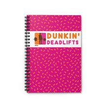 Load image into Gallery viewer, Dunkin' Deadlifts Spiral Notebook