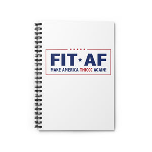 Make America Thiccc Again Spiral Notebook
