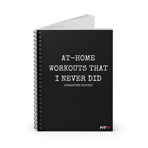 At-Home Workouts Spiral Notebook