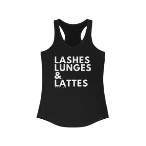 Lashes Lunges & Lattes Racerback Tank