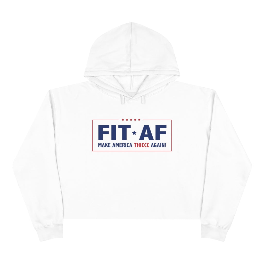 Make America Thiccc Again Women's Cropped Hoodie