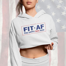 Load image into Gallery viewer, Make America Thiccc Again Women's Cropped Hoodie