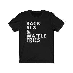 Back Bi's & Waffle Fries Men's Tee