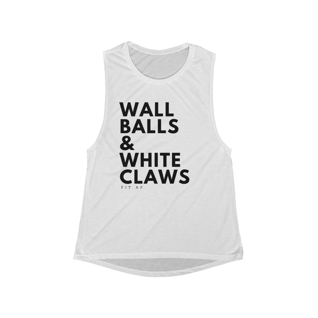 Wall Balls & White Claws Women's Muscle Tank