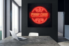 Load image into Gallery viewer, Power Cleans Neon Wall Canvas