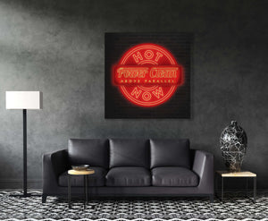 Power Cleans Neon Wall Canvas