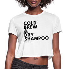 Load image into Gallery viewer, Cold Brew & Dry Shampoo Crop Top - white