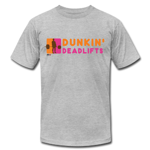 Dunkin' Deadlifts Mens Tee - heather gray