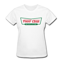 Load image into Gallery viewer, Power Clean Women's Tee - white