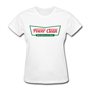 Power Clean Women's Tee - white