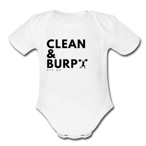 Clean & Burp Toddlier Onsie - white