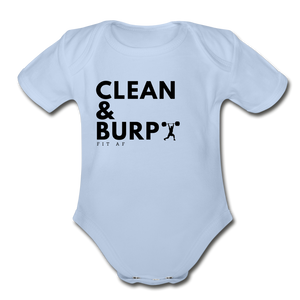 Clean & Burp Toddlier Onsie - sky
