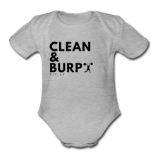 Load image into Gallery viewer, Clean & Burp Toddlier Onsie - heather gray