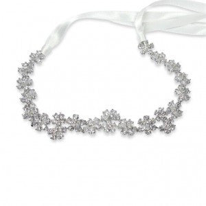Daisy headband, popping white rhodium