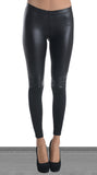 Faux Leather Biker Leggings