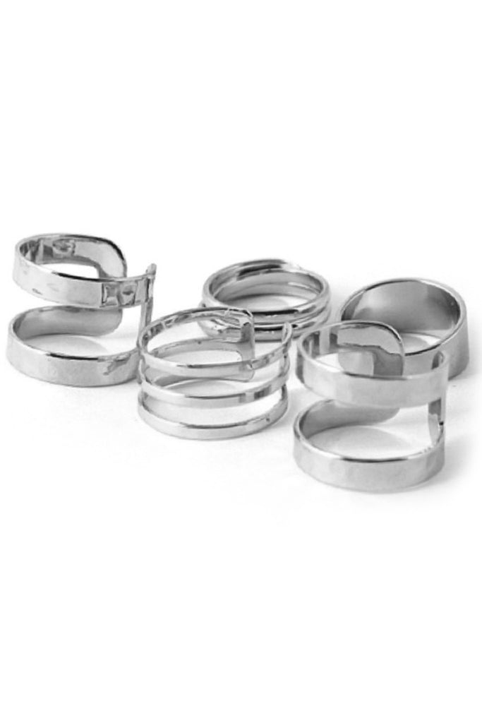 Cutout Cuff Ring Set