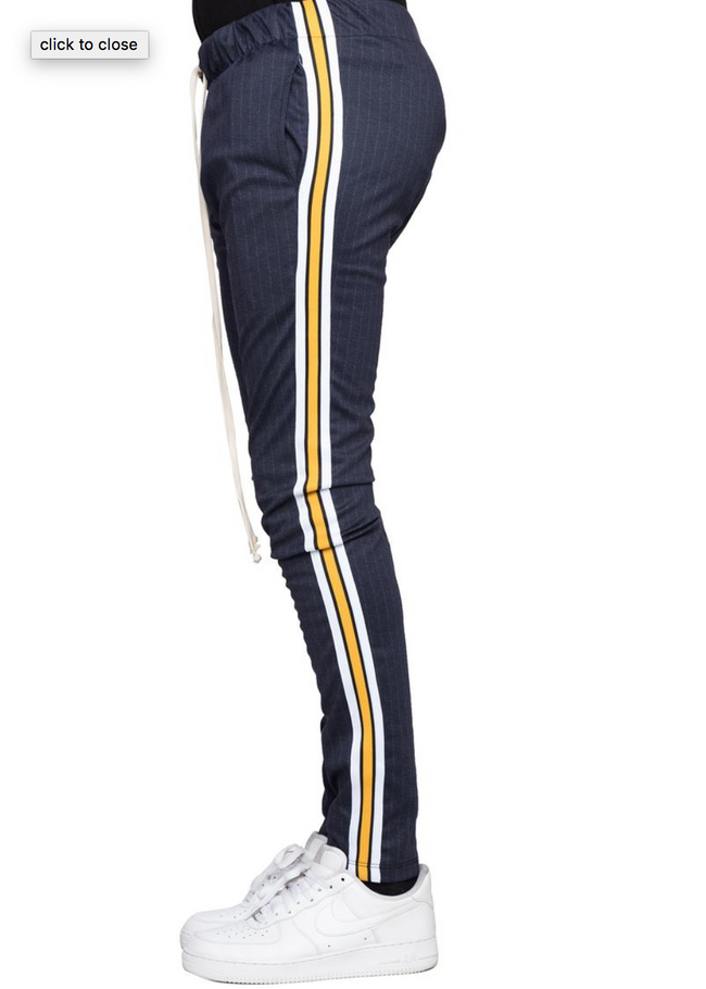 Pin Striped Taped Track Pants