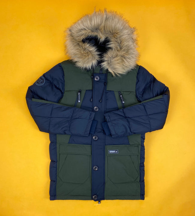 Rookie Colour Block Down Parka