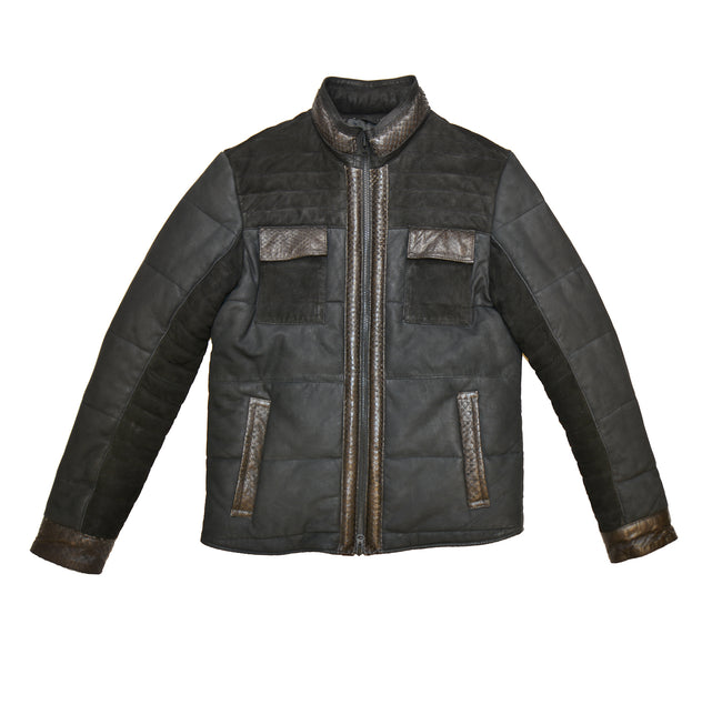 Scale Leather Jacket