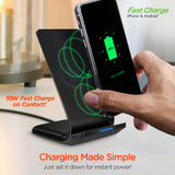 HyperGear 10W Wireless Fast Charging Stand - Black