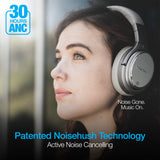 Naztech DRIVER ANC1000 Active Noise Cancelling Wireless Headphones - Gray