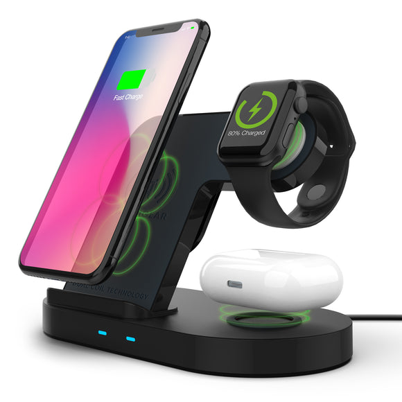 Hypergear 3-in-1 Wireless Charging Dock - Black