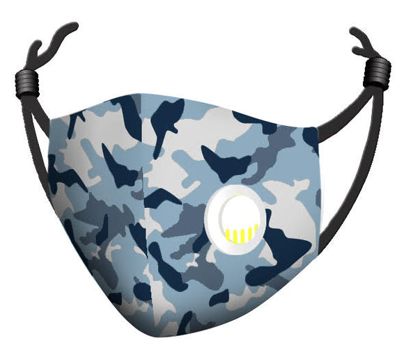 Zorbitz My Mask Comfort Plus Face Mask w/Breather - Camo Print