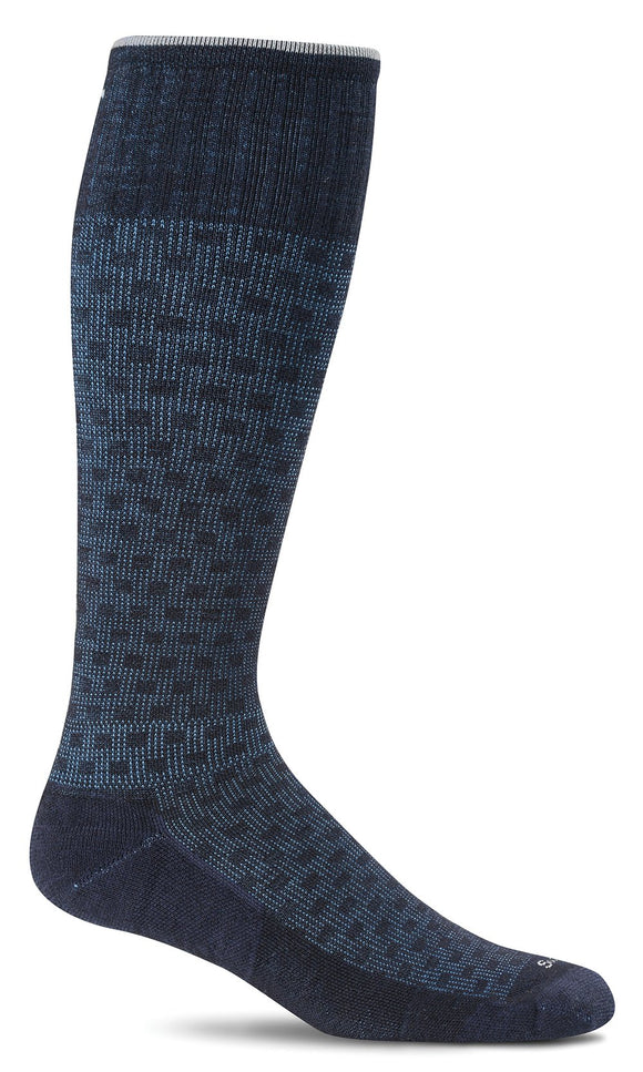 SockWell Men's Shadow Box Sock Moderate Graduated Compression 15-20mmHg