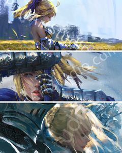 Fate ♥ Saber/Artoria 3x Poster Bundle!