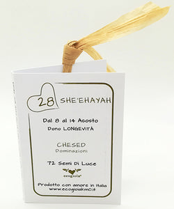 28) SHE'EHAYAH - 8 a 14 Agosto - Packaging etichetta